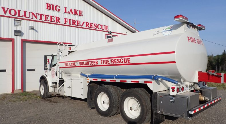 Big Lake Water Tender Truck and WLCF Logo