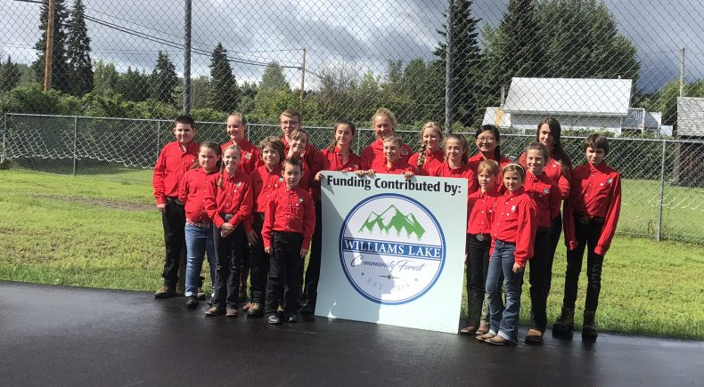 Horsefly 4H members with the WLCF logo