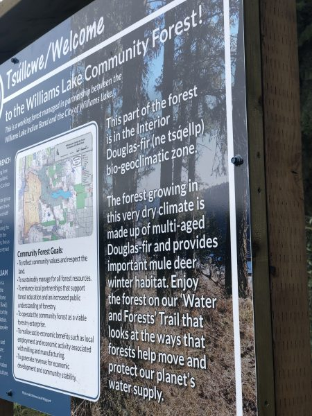 Welcome Sign CCCS Hydrology Trail