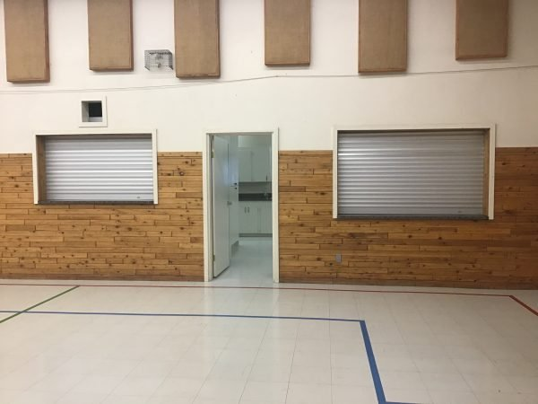 Rollaway shuttered barriers installed at the Big Lake Hall